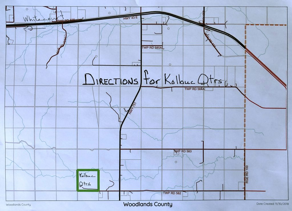 Directions for Kolbuc Quarters